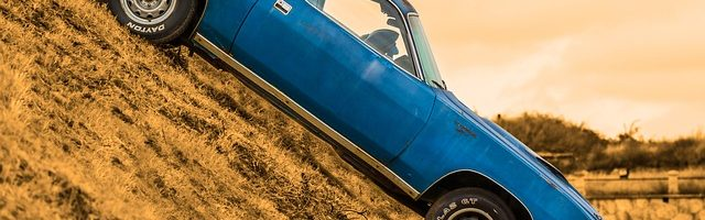 dreamdiary-Down a hill in a car